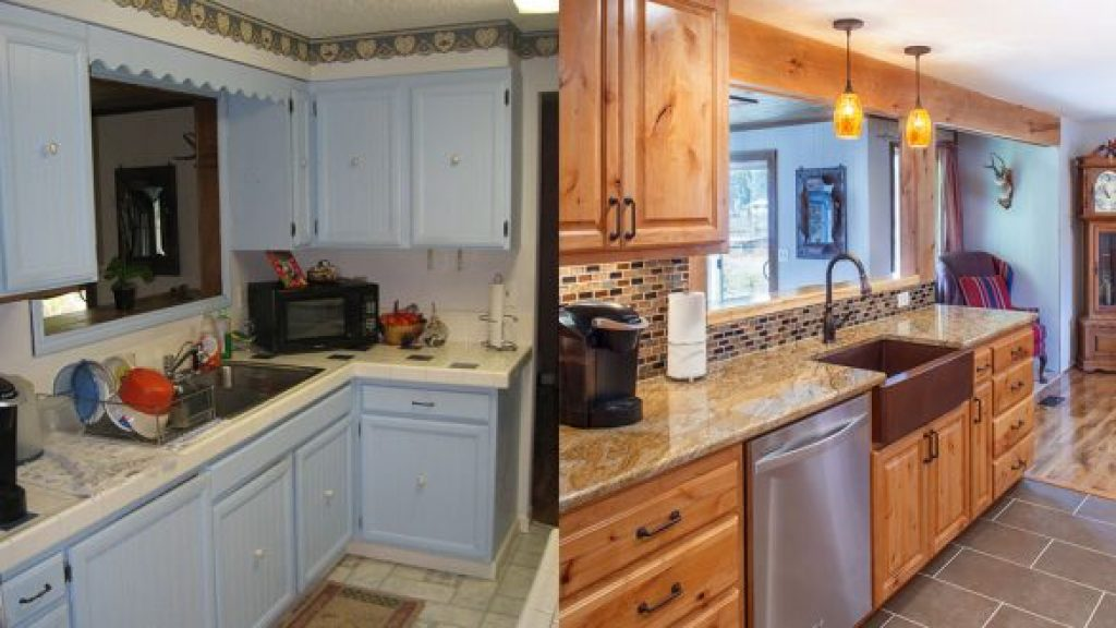 The before and after of Kitchen Remodeling