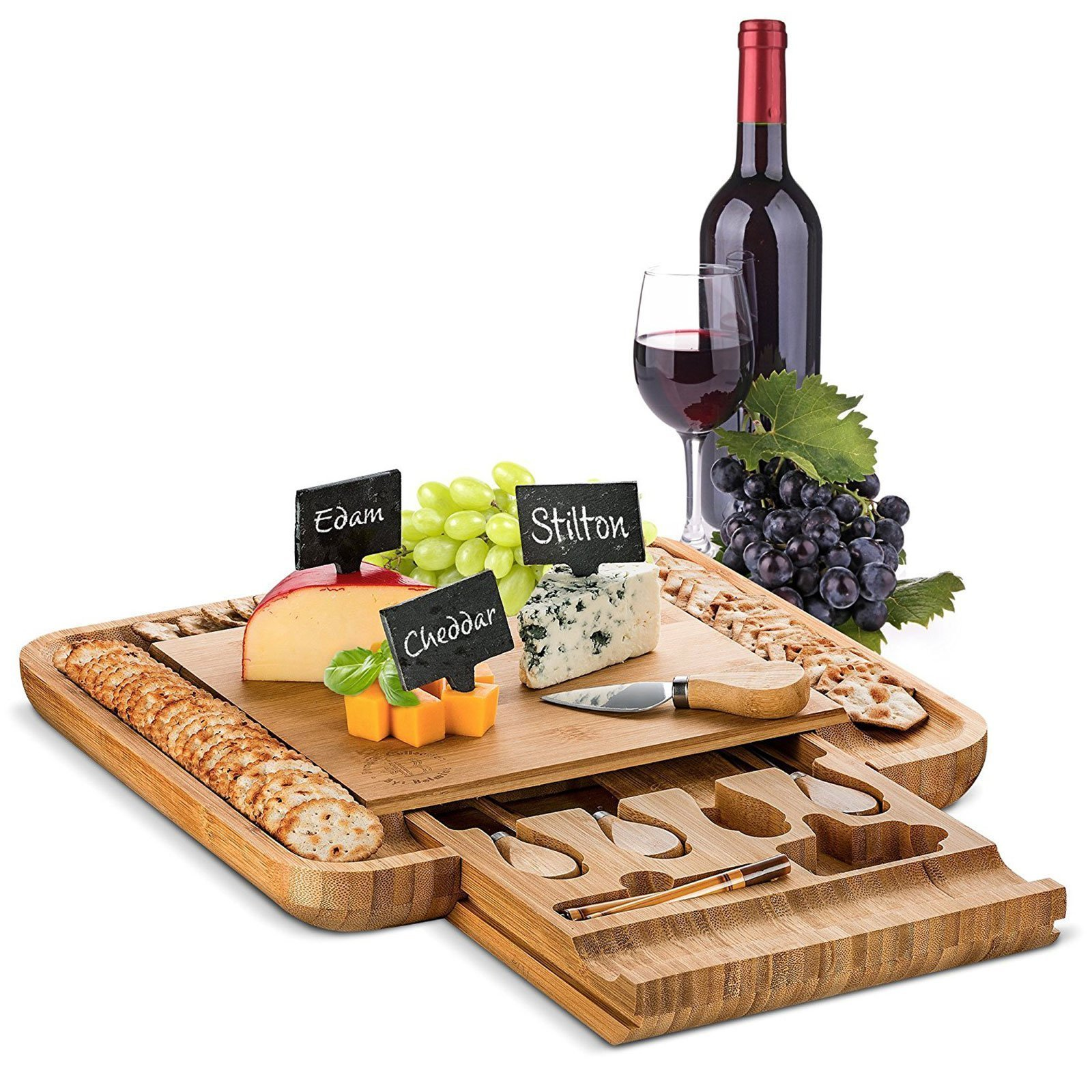 Bamboo Cheese Board and Knife Set Full Review